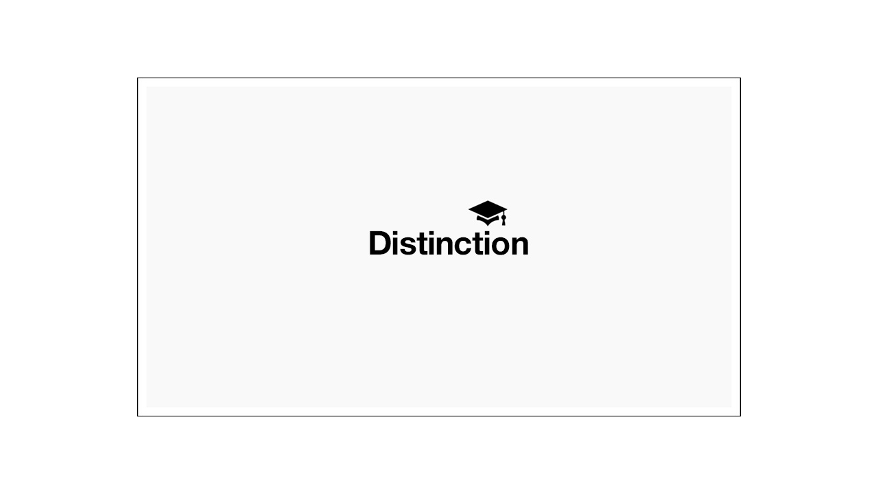 Distinction received for Masters in Architecture & Urbanism