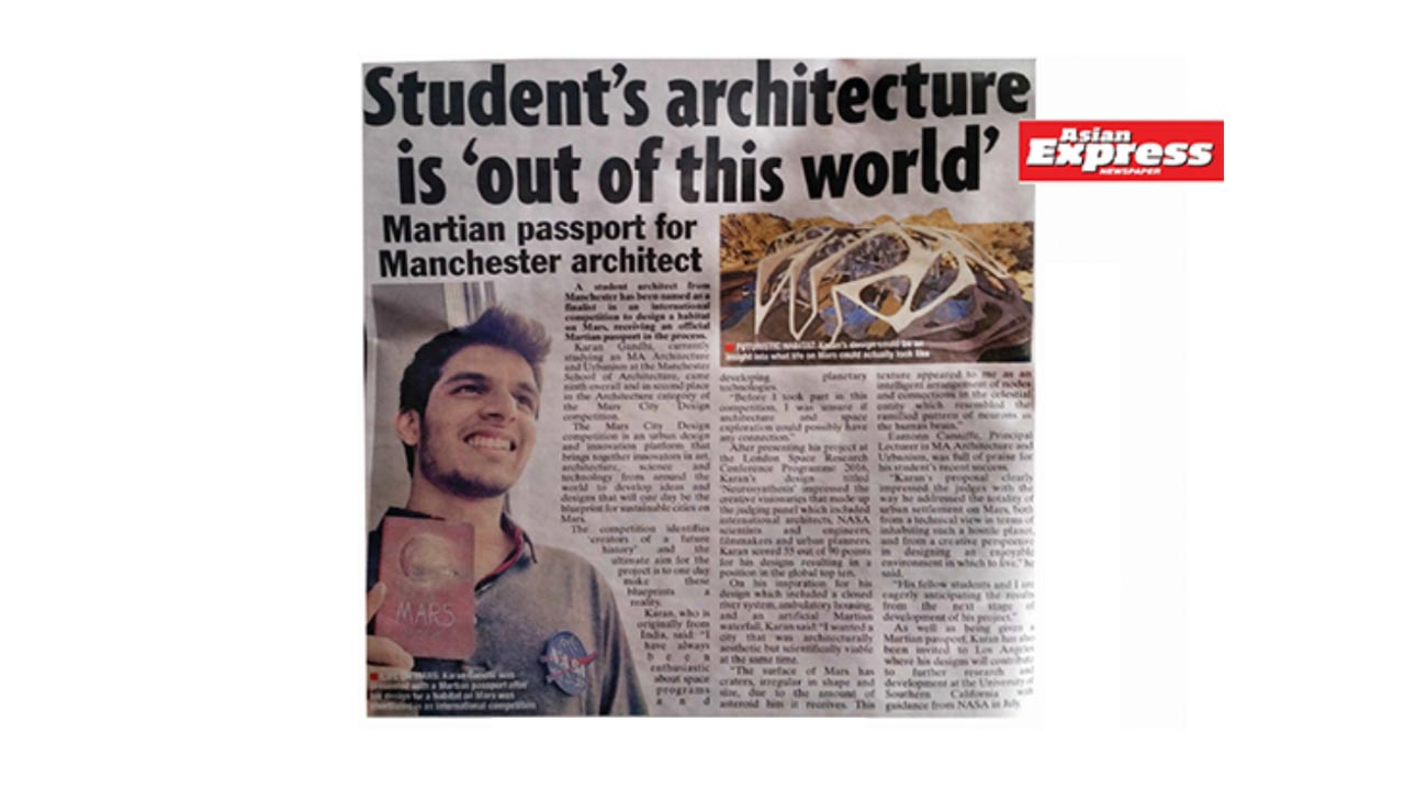 Student's Architecture is 'out of this world' - Asian Express UK
